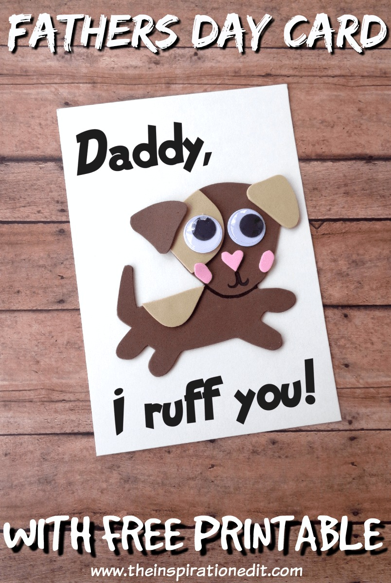 DIY Dog Themed Fathers Day Card For Dads · The Inspiration Edit