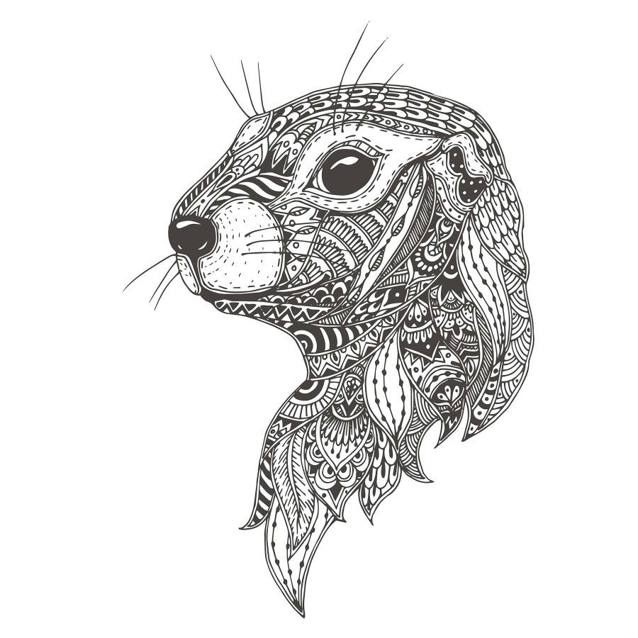 Pin By Mary On Doodling Doodle Patterns Zentangle Animals Otter Tattoo