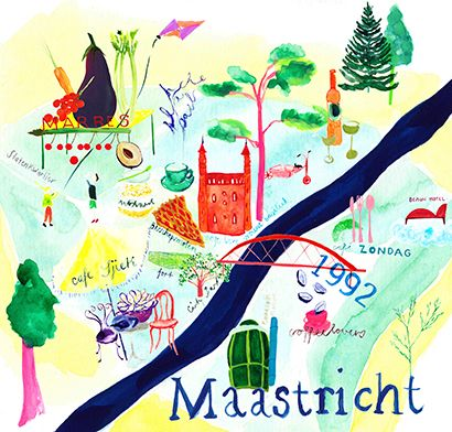 Maastricht map for Jamie Magazine NL May be studying abroad here