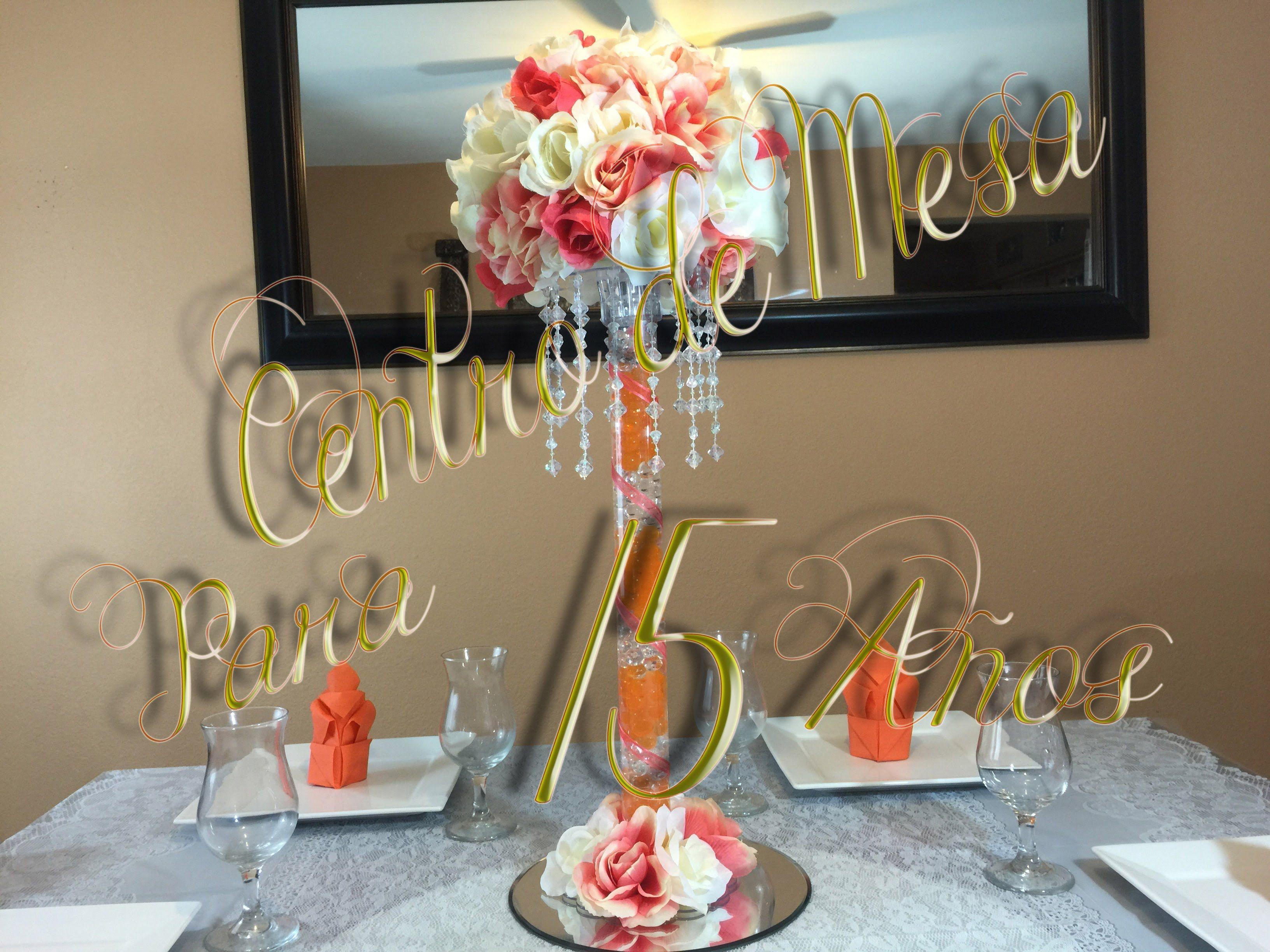 Centro de mesa para boda 15 a os adorno d bodas y algo - Centros de mesa para quinceaneras ...