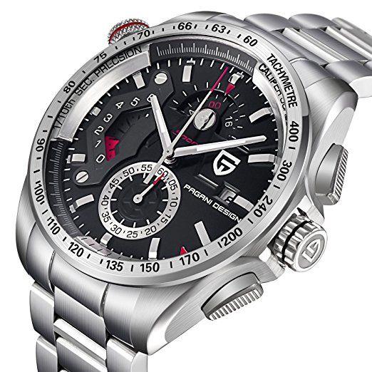 b9beb3ae0 Reloj de pulsera analógico deportivo para hombre, de acero inoxidable, con  esfera negra, sumergible.