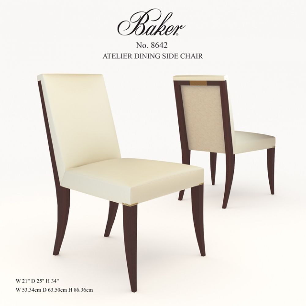 Atelier Dining Side Chair 3D Model | Side chairs, Chair ...