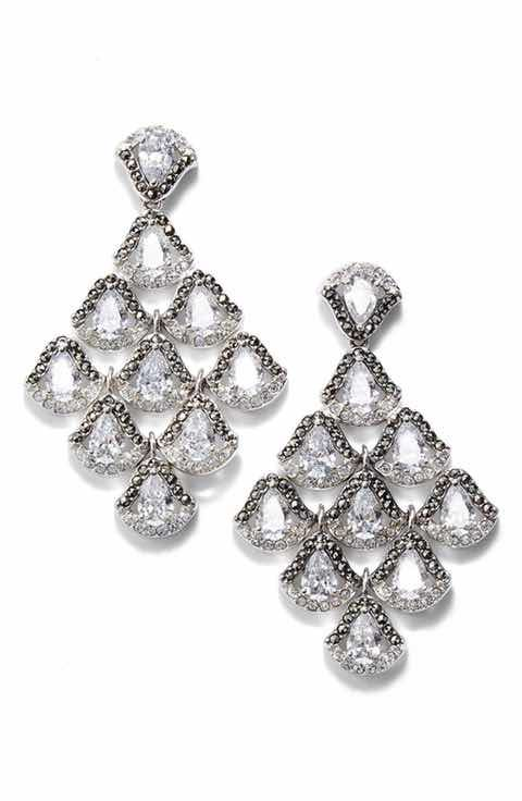 Judith Jack Semiprecious Stone Chandelier Earrings | Wedding ...