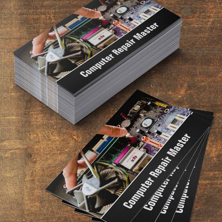 Computer Repair Technician PC Motherboard Photo Business Card ...