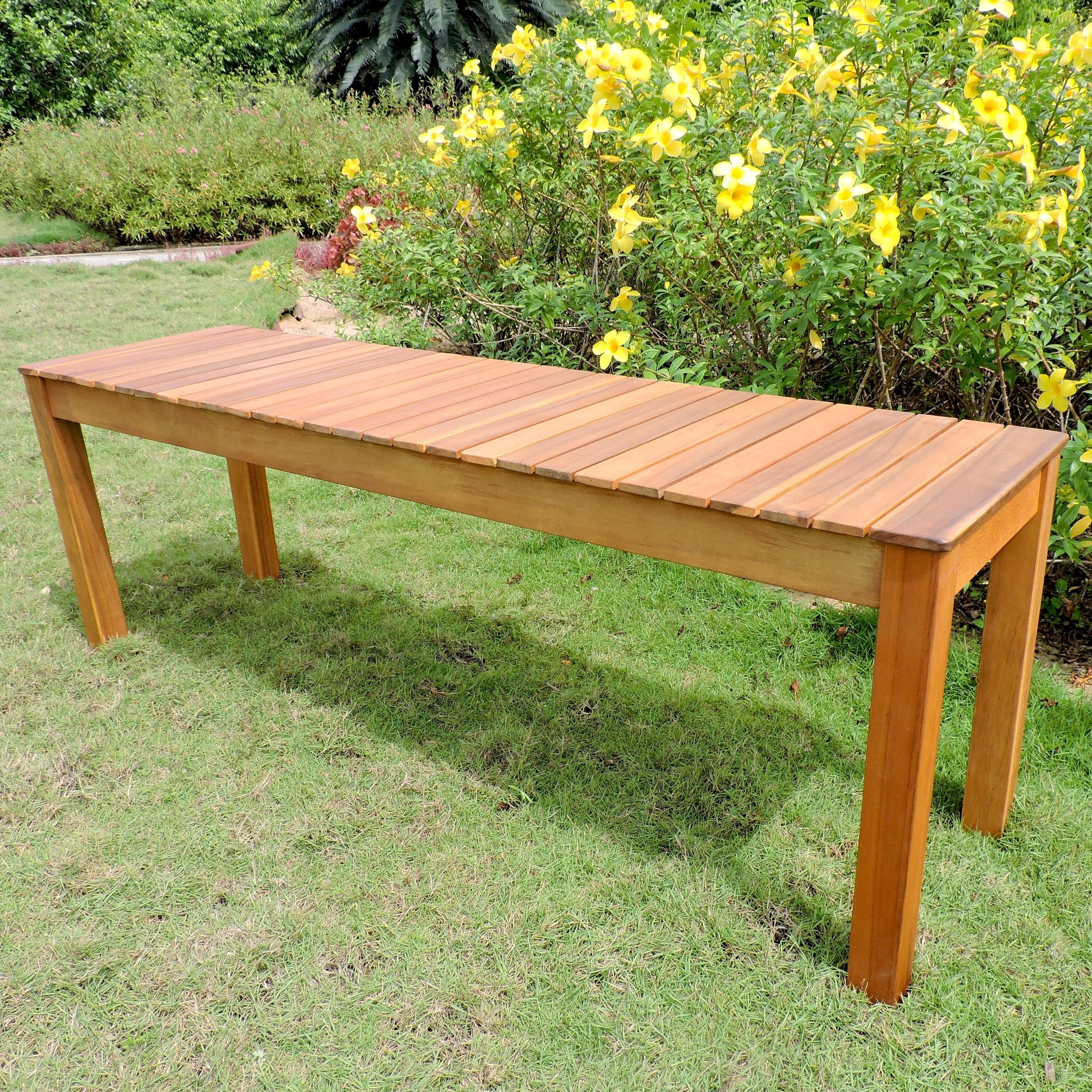 International Caravan Royal Fiji Acacia 52 Inch Garden Bench
