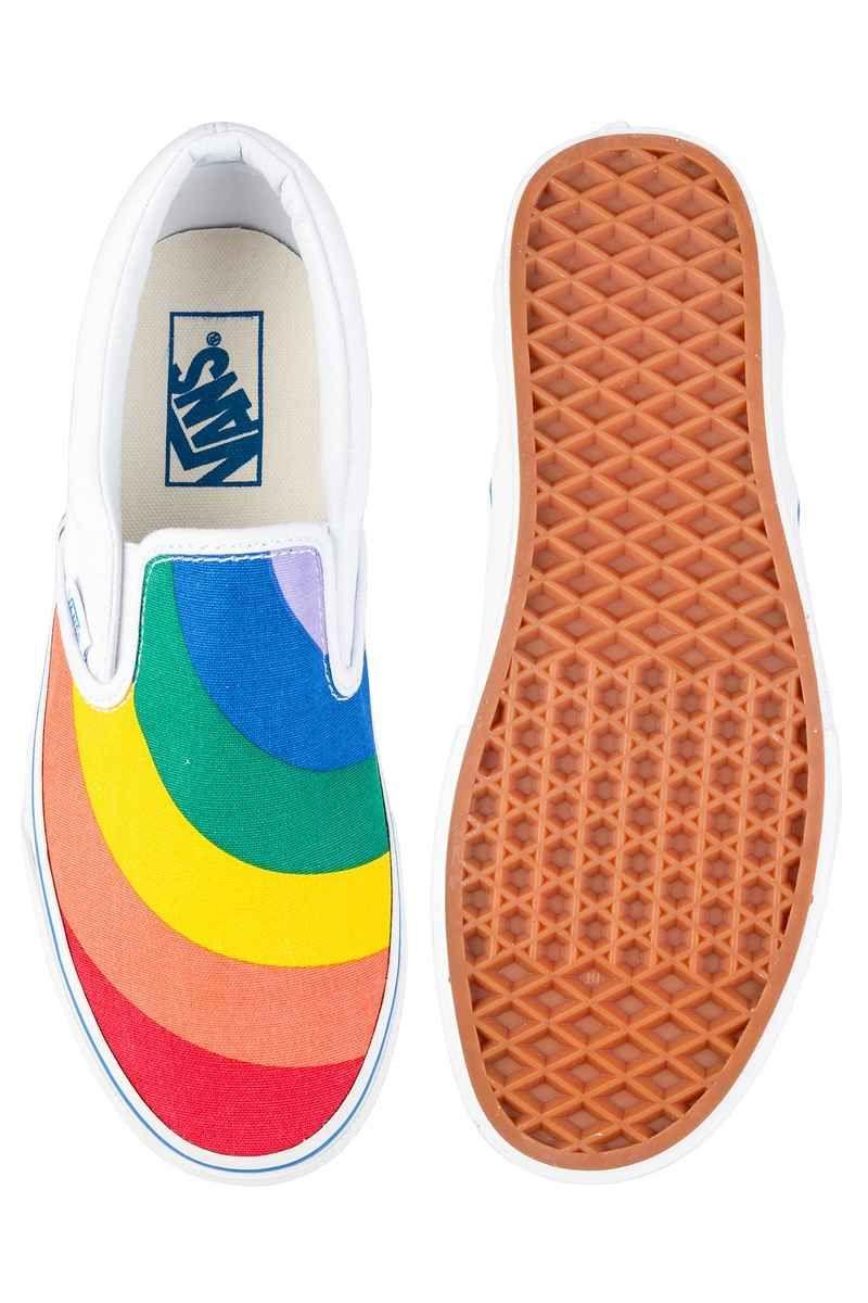 e05d4731d0 Vans Classic Slip-On Schuh women (rainbow true white) kaufen bei skatedeluxe