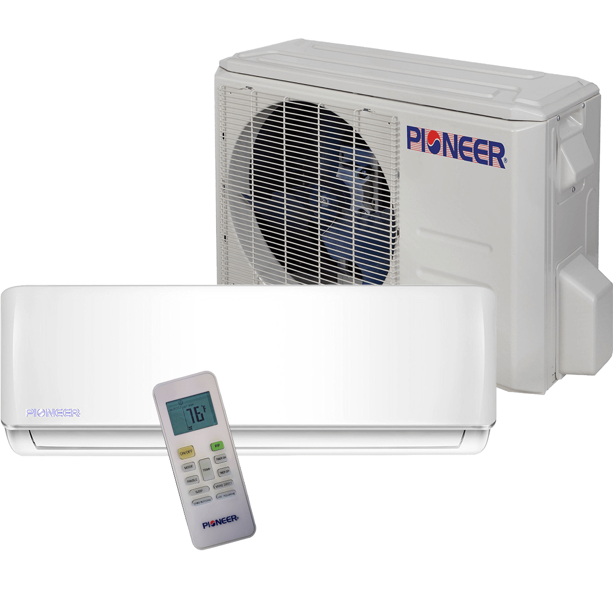 Pioneer 12 000 Btu 115v Ultra High Efficiency Mini Split Heat Pump Heat Pump Ductless Mini Split Windowless Air Conditioner