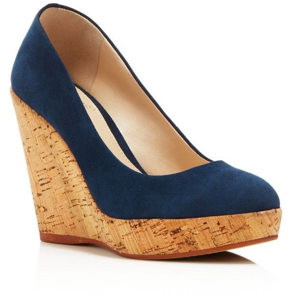 Vince Camuto Faran Cork Platform Wedge Pumps ($110) ❤ liked on ...