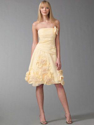 f7de3b655853 Cute pale yellow dress. It says it's taffeta, but it sure doesn't look like  it!