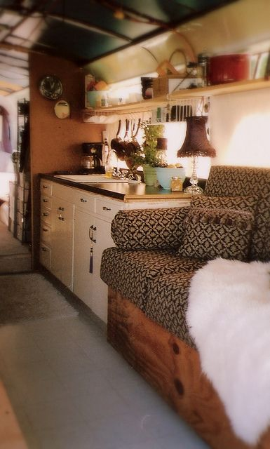 90+ Interior Design Ideas for Camper Van   White cabinets ...