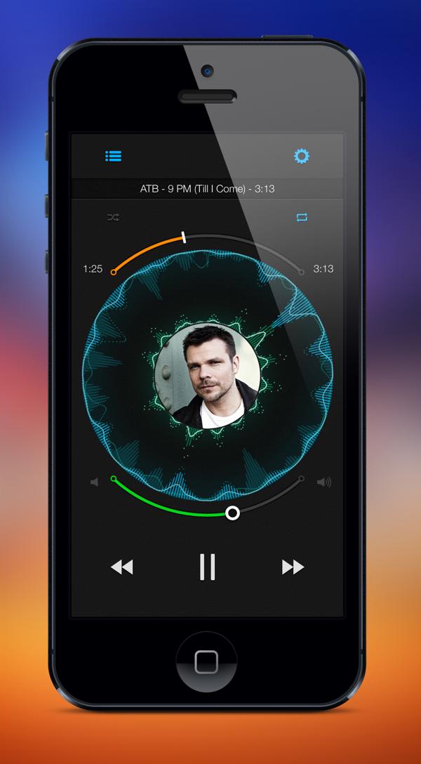 Music Wave app by Frigo, via Behance (Görüntüler ile)