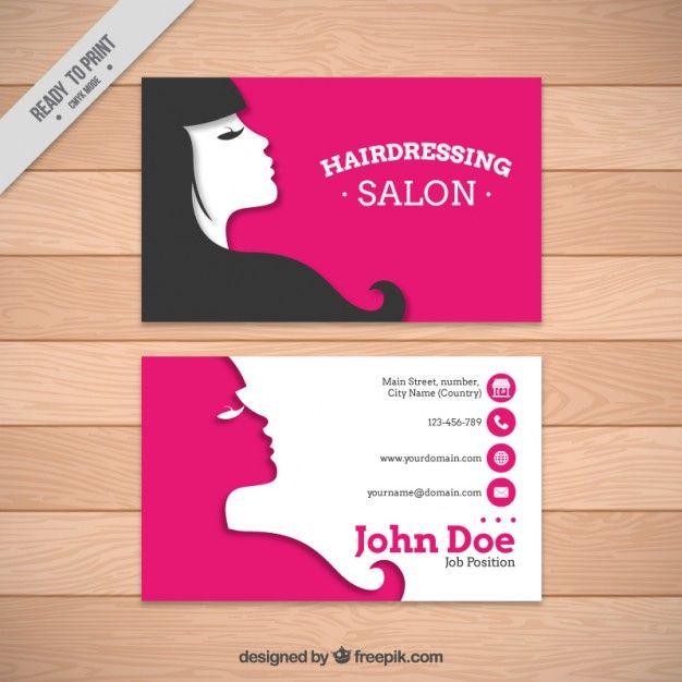 Plantilla de tarjeta de salón de peluquería Vector Gratis   Lluvia ...