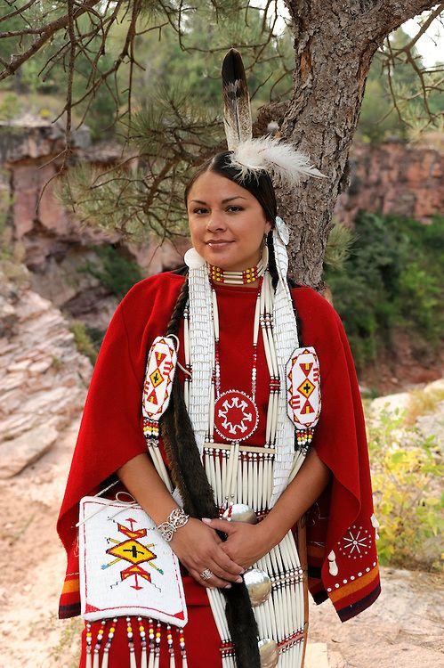Terra Houska Traditional Dress Lakota Native American Indian Black Hills South