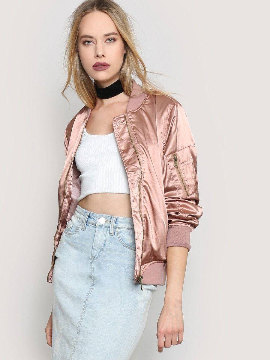 Shine On Bomber Jacket - Pink - Gypsy Warrior
