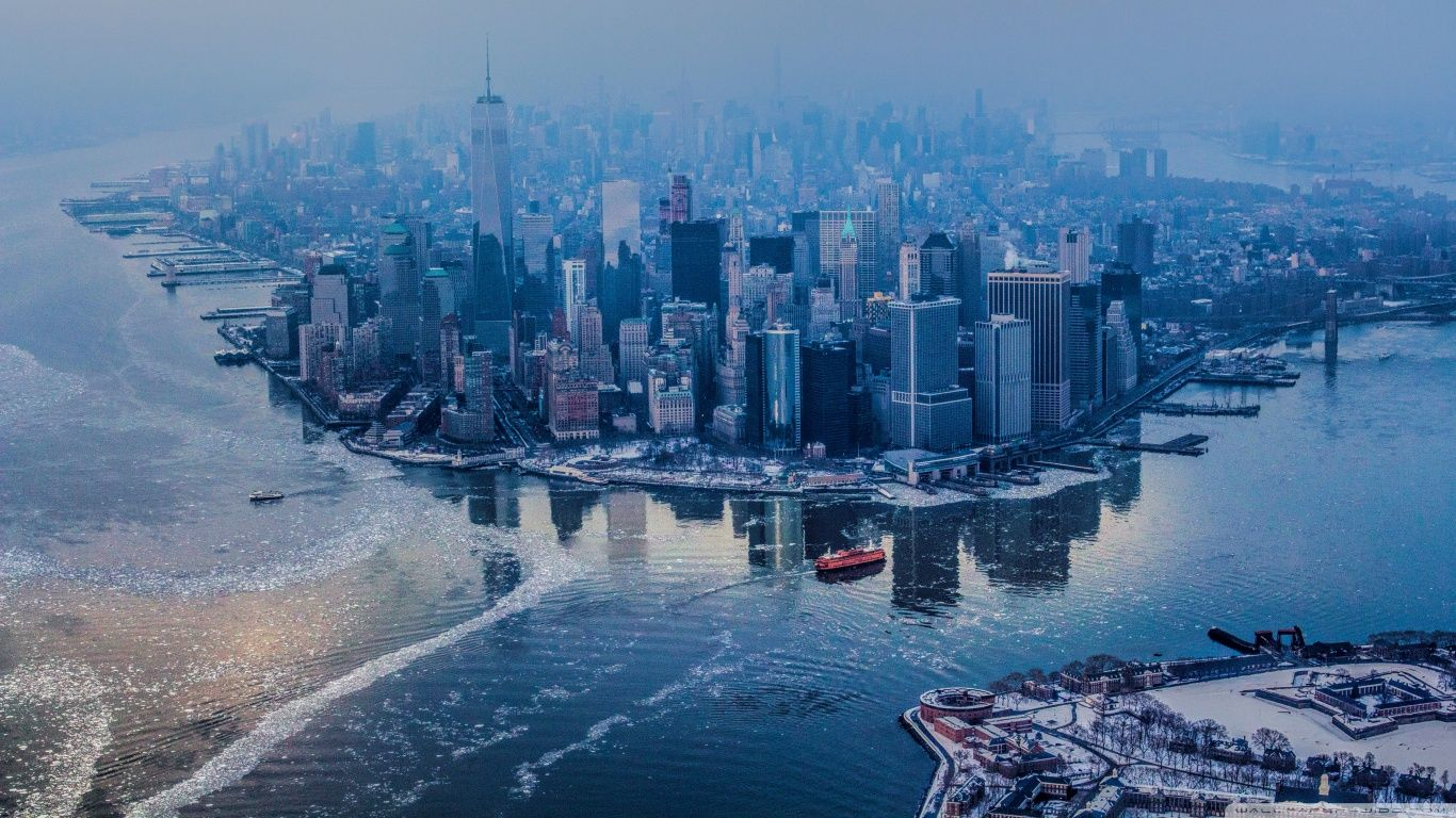 New York City Hdr Hd Desktop Wallpaper High Definition New York City Images New York Wallpaper York Wallpaper Hd wallpaper city winter aerial view
