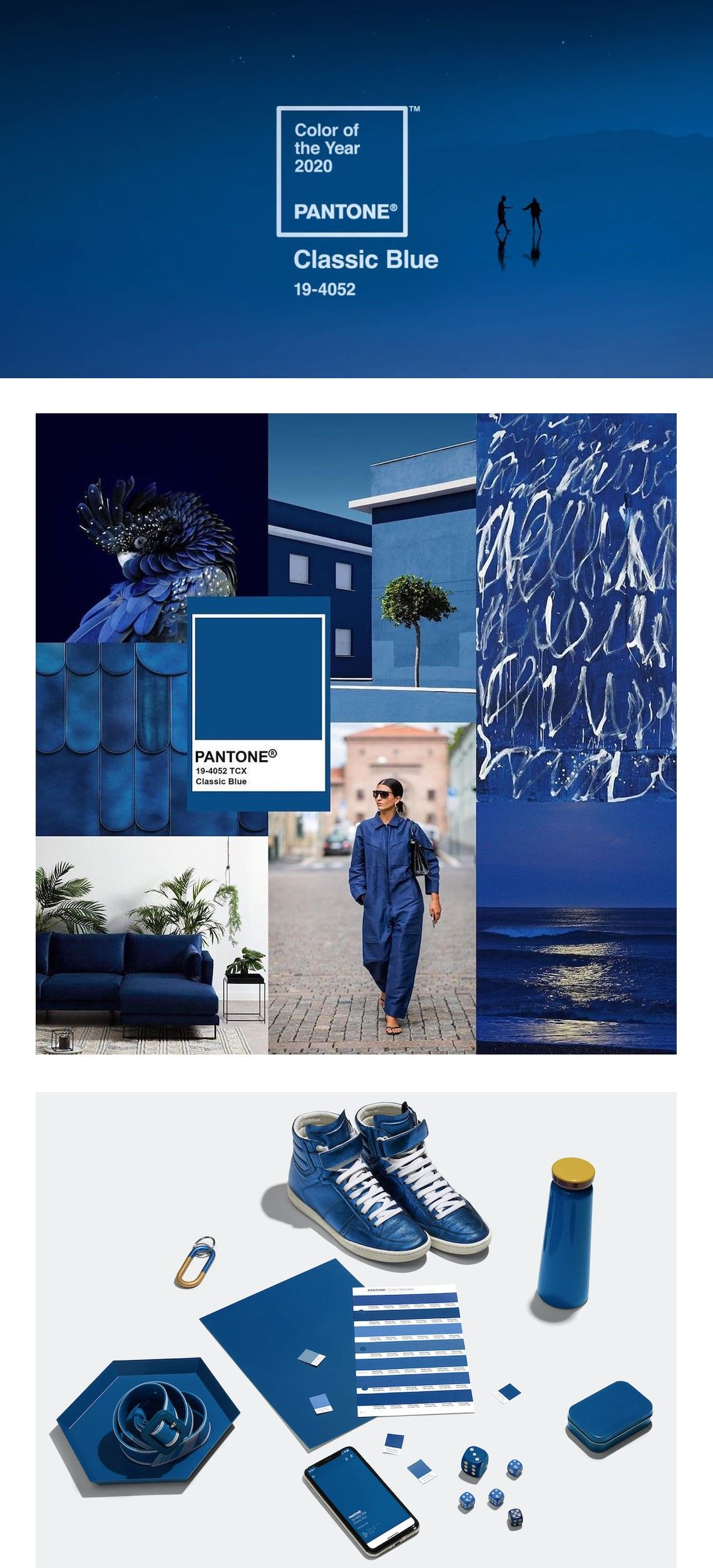 Colore Pantone 2020: Classic Blue 19-4052