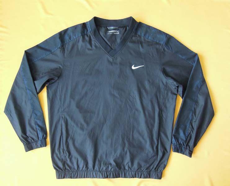 Nike Golf V Neck Jacket Jersey Vintage 90s Windbreaker Black Signature Swoosh Polyester Trainer Training Sweater Swe Sweater Sweatshirt Jackets 90s Windbreaker