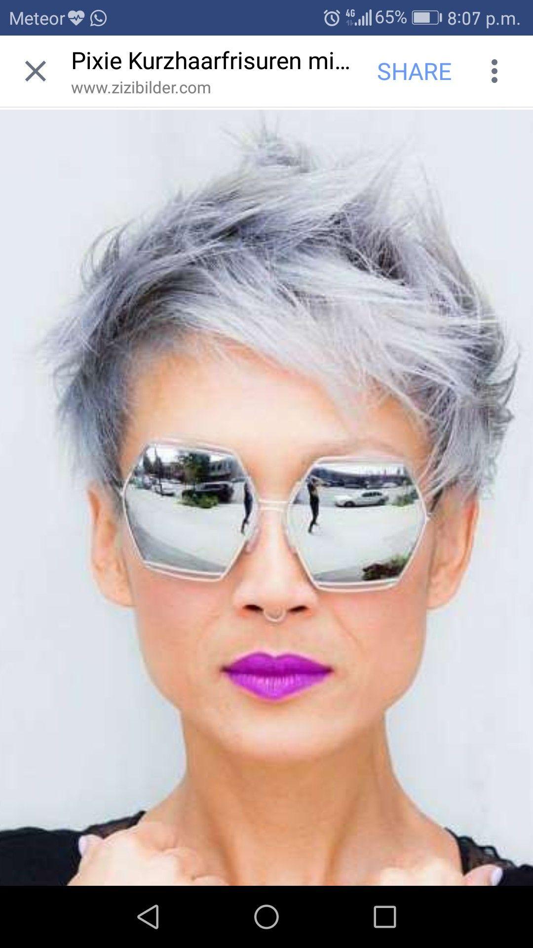 Grey Pixie love the sunglasses as well Hair
