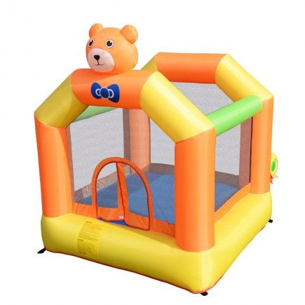 Inflatable Little Bear Bounce House Jumper Moonwalk Outdoor Kids Without  Blower