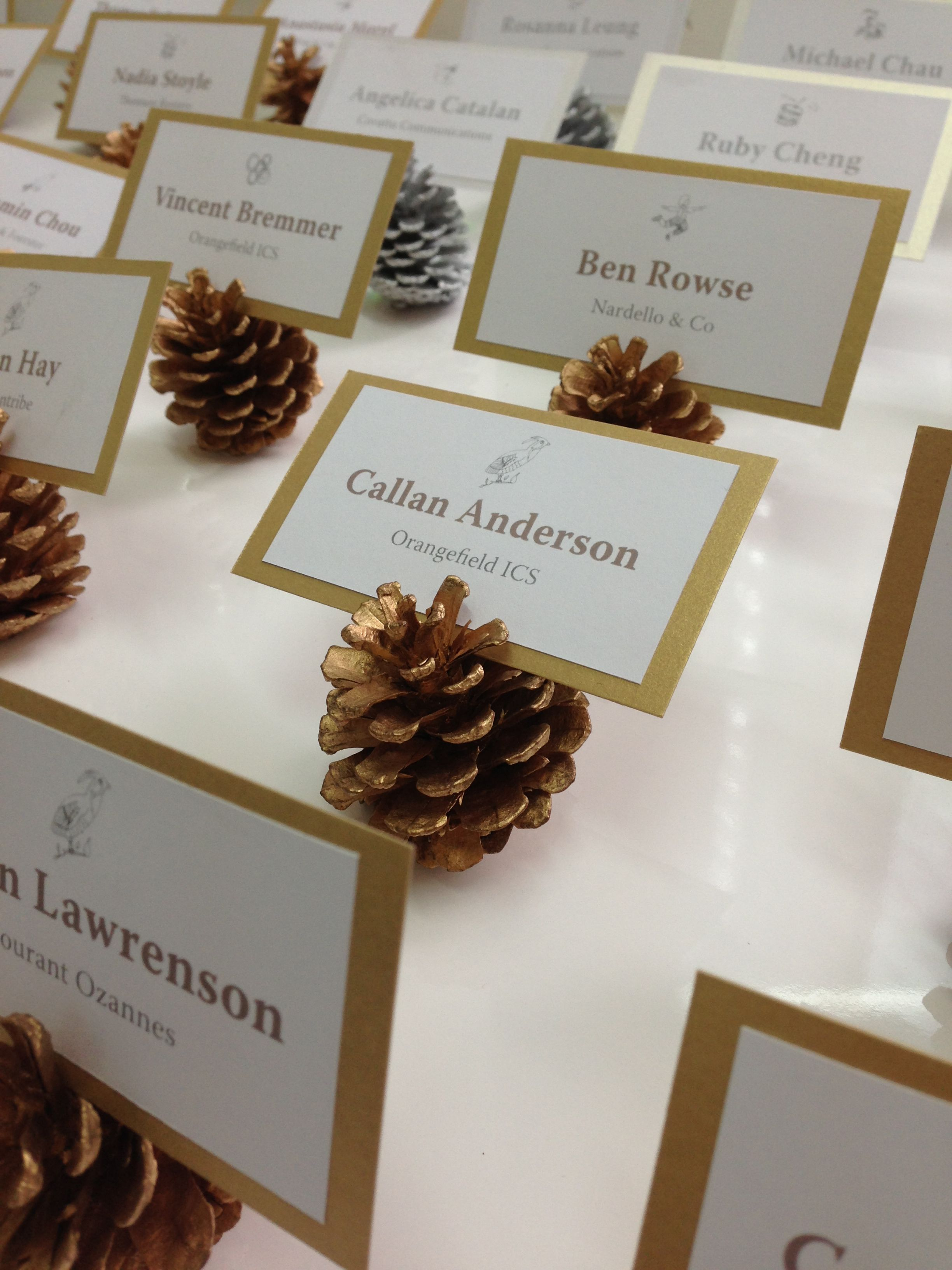 Christmas party place cards