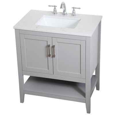 Highland Dunes Gooden 30 Single Bathroom Vanity Set Base Finish