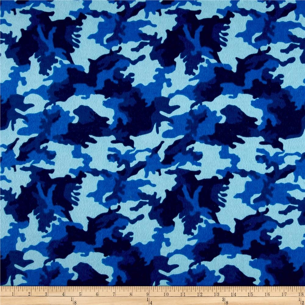 Printed Flannel Urban Camoflage Blue From Fabricdotcom Designed By Camelot Design Studio For Camelot Fabrics This Double Camoflage Printing On Fabric Prints