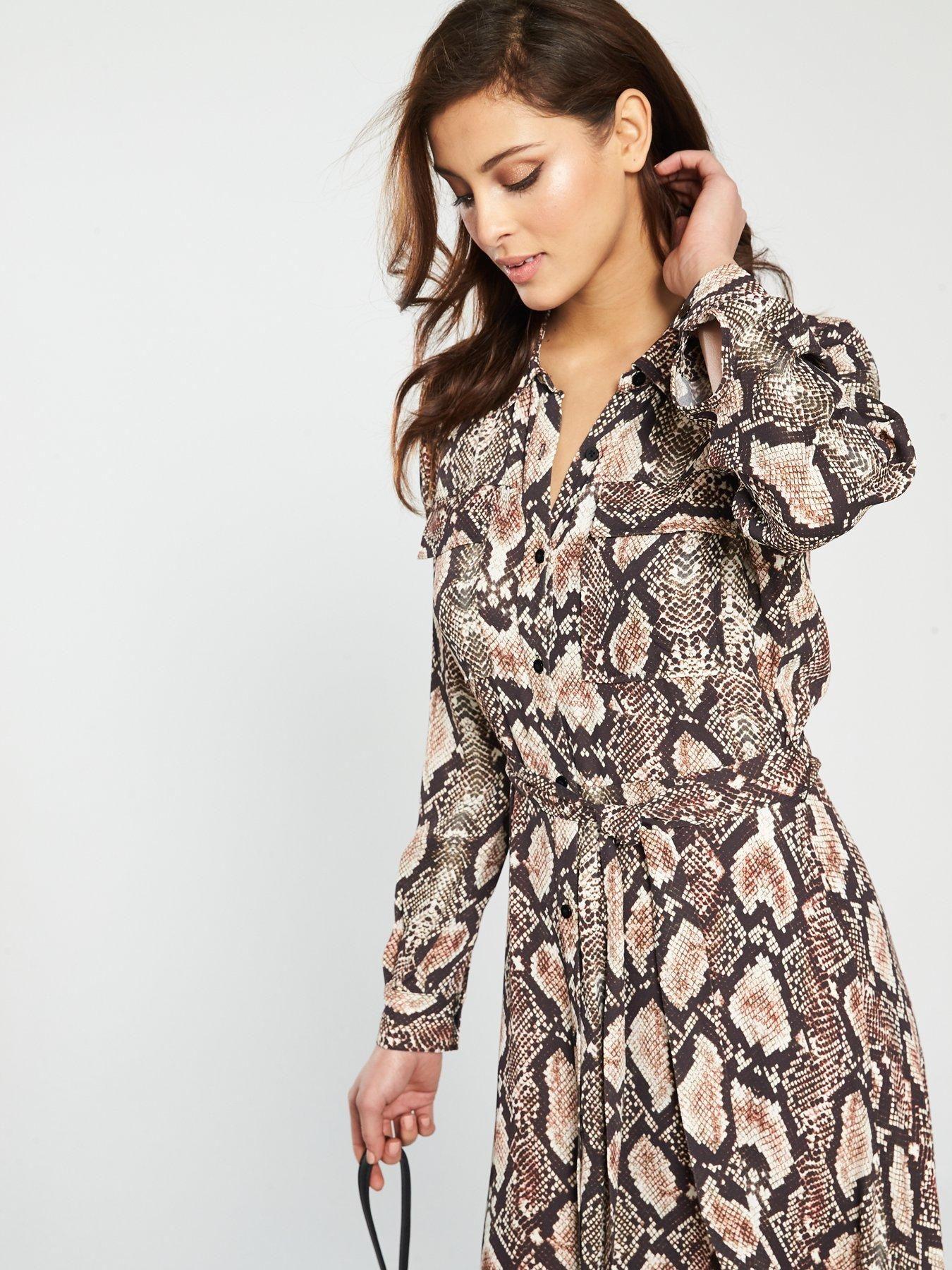 1ef7263c309a0 WHISTLES Elfrida Snake Print Shirt Dress | Autumn wish list! | Shirt ...
