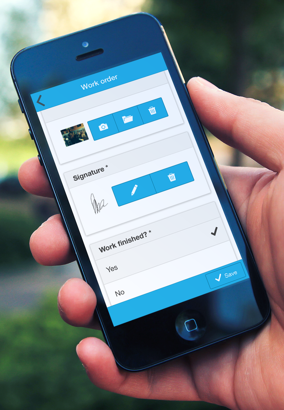Work Order App App, Digital, Digital form