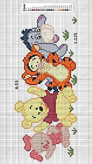 winnie the pooh pattern cross stitch cross stitch baby