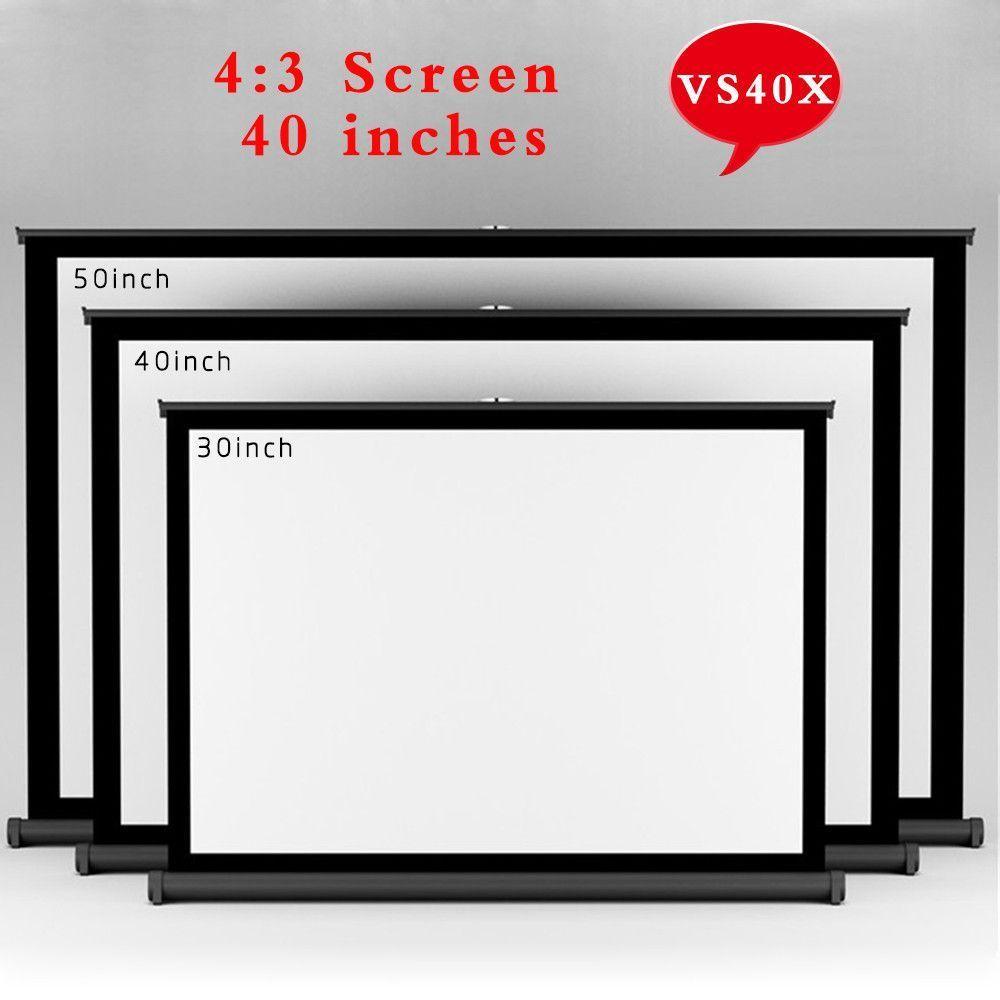 Vs40x Top Quality 40inch 4 3 Convenient Projector Screen Portable