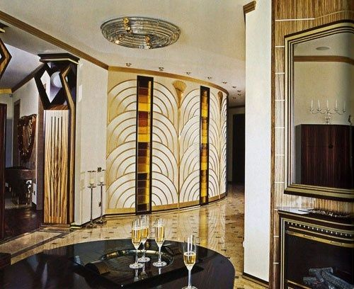 Art Deco Interieur : Gold art deco interior just the scale and layout appeal to me