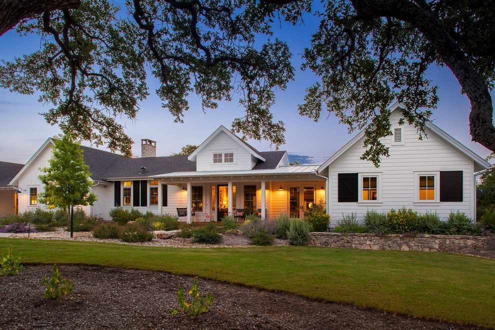 Coastal Cottage Single Story Exterior Farmhouse With