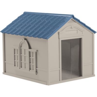 Find Suncast Dog House Large In The Dog Houses Category At Tractor Supply Co This Suncast Dog House Is For Dogs Up To 100 In 2020 Dog House Large Dog Cage Dog Houses