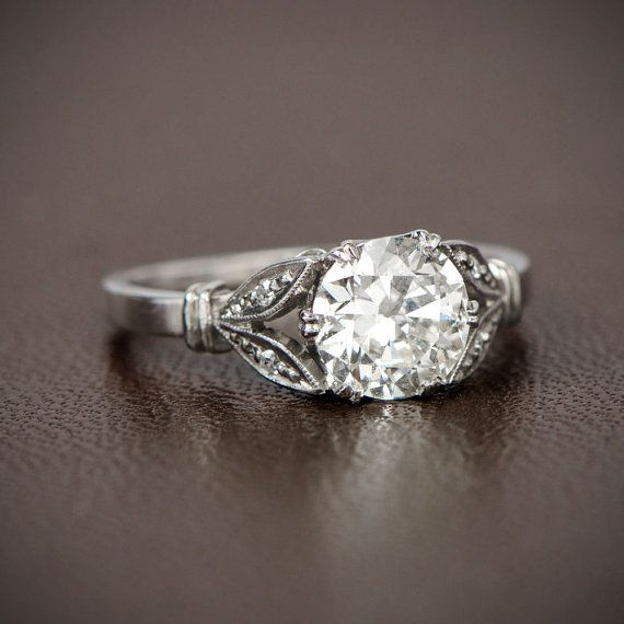Antique Style Engagement Ring 113ct Old Mine Cut Diamond