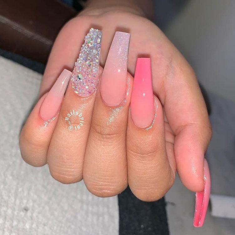 Pin By Tamara Jacques On Nail Art In 2020 Pink Acrylic Nails Coffin Nails Designs Pretty Acrylic Nails