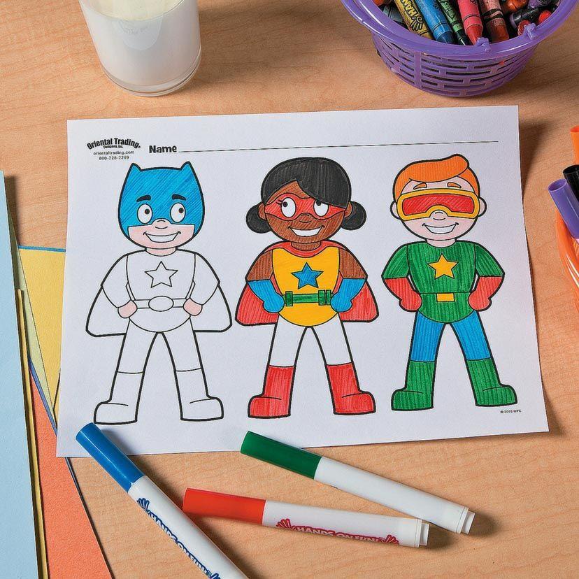 Superhero Free Printable Coloring Page Idea #superherocrafts