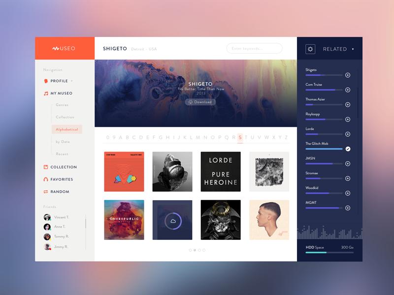 Museo desktop app v1 dashboards app design web ui - Web application home page design ...