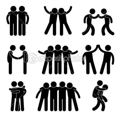 Friend Friendship Relationship Teammate Teamwork Society Icon Sign