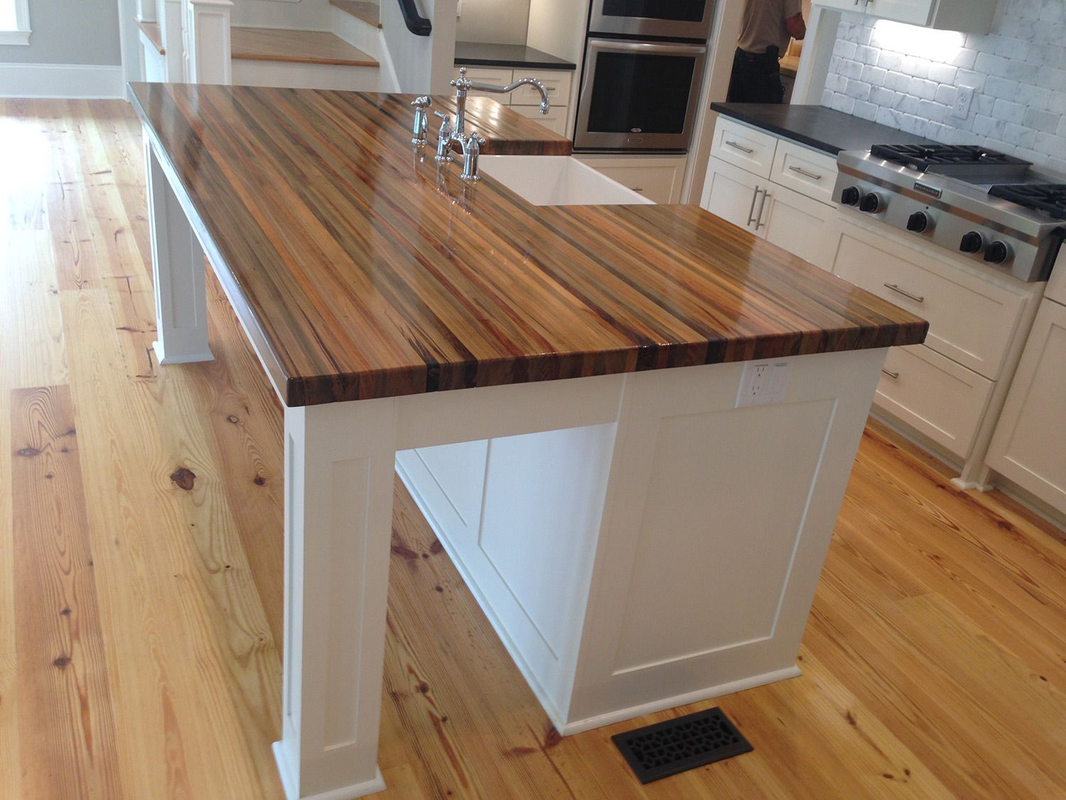 Blackwater Timber River Reclaimed Cypress Countertop Kitchen Redo Pantry Design