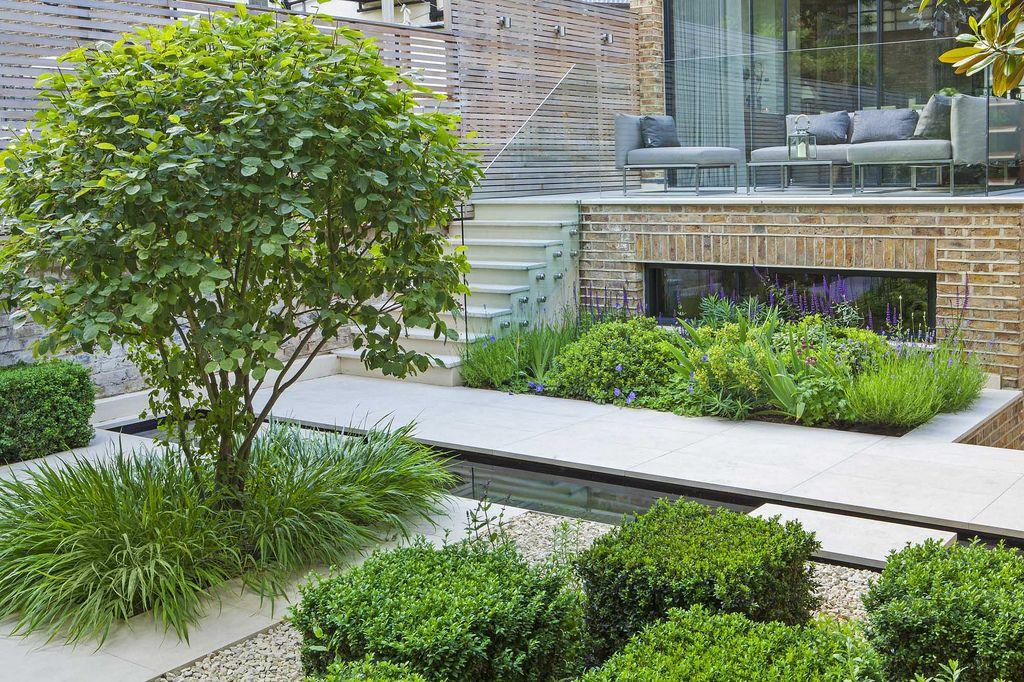 contemporary architectural garden in kensington, west london, Garten ideen