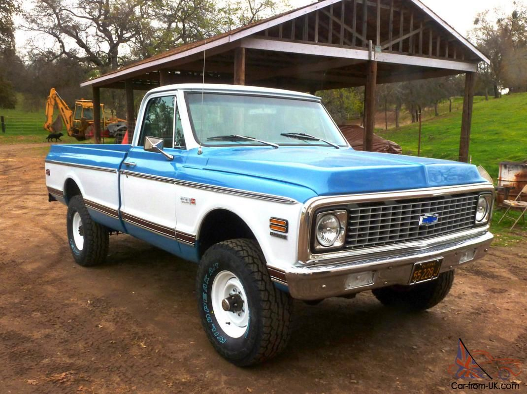 Classic chevy cheyenne trucks cheyenne super 4x4 chevrolet pickup truck 1971 classic for sale