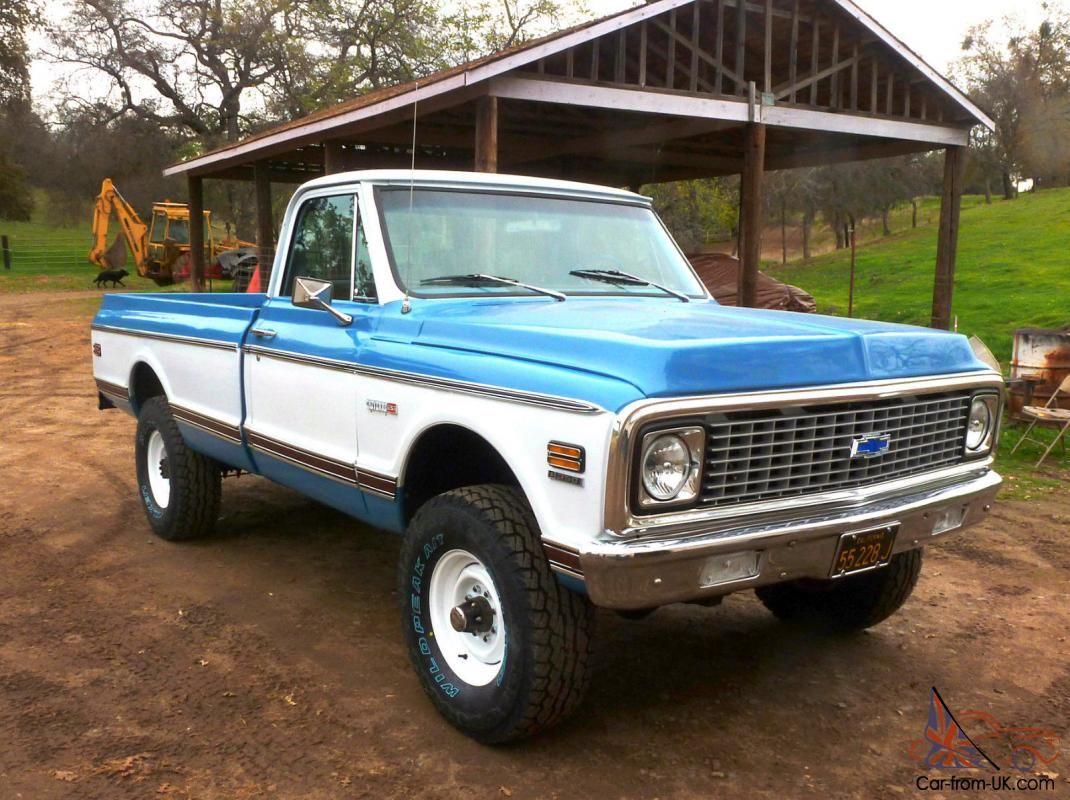 Cheyenne Super 4x4 Chevrolet Pickup Truck 1971 Classic Chevy