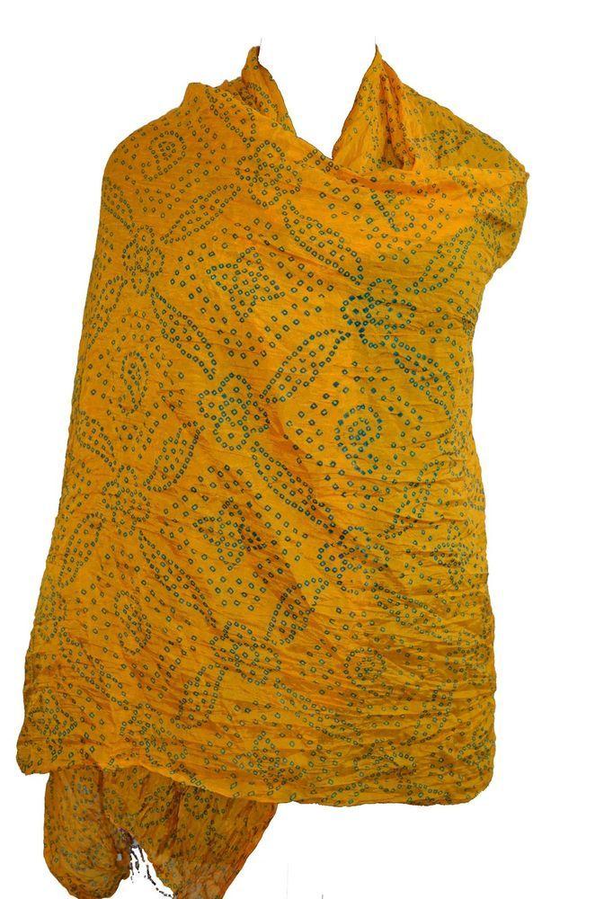 indian ethnic woman  dupatta scarf stole multi color scarf chunri Ladies showl