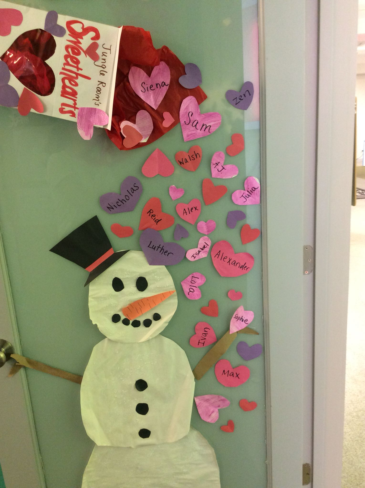 February door decorations sweetheart box is made from card