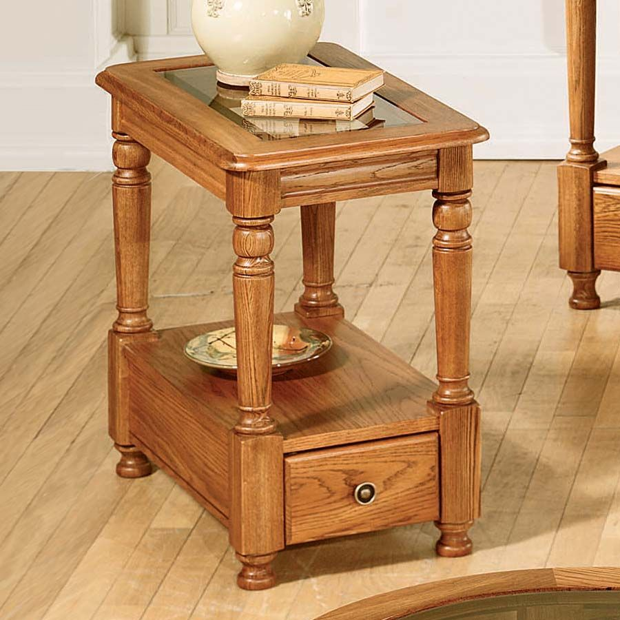 Peters Revington 3913 Marion County Chairside Table With Glass Top Chair Side Table Living Room Furniture Table [ 900 x 900 Pixel ]