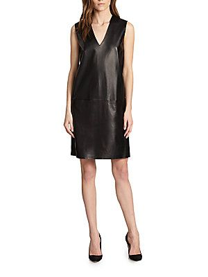 82033eea27d Vince - Leather Shift Dress