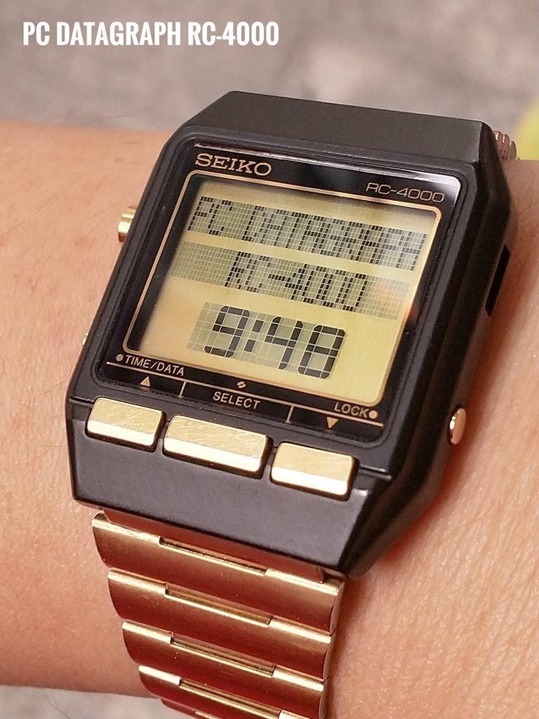 Seiko Pc Datagraph Rc 4000 Coolest Vintage Seiko Retro Watches Luxury Watches For Men