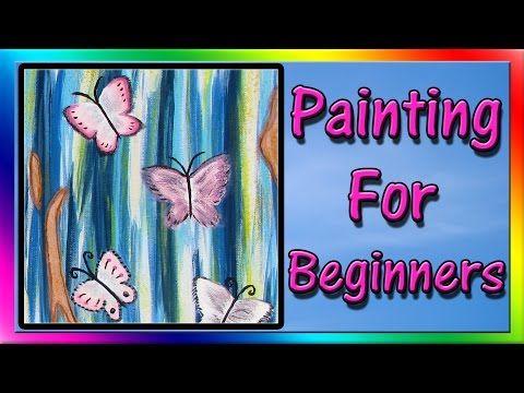 mariposa de la salpicadura | Pintura acrílica para principiantes | # clive5art - YouTube