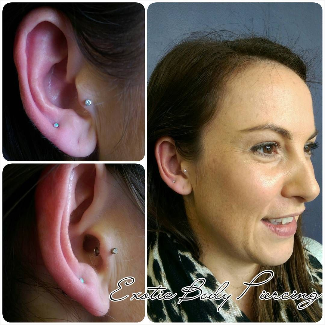 Fresh High Lobe Piercing We Did Yesterday With This Dainty Little