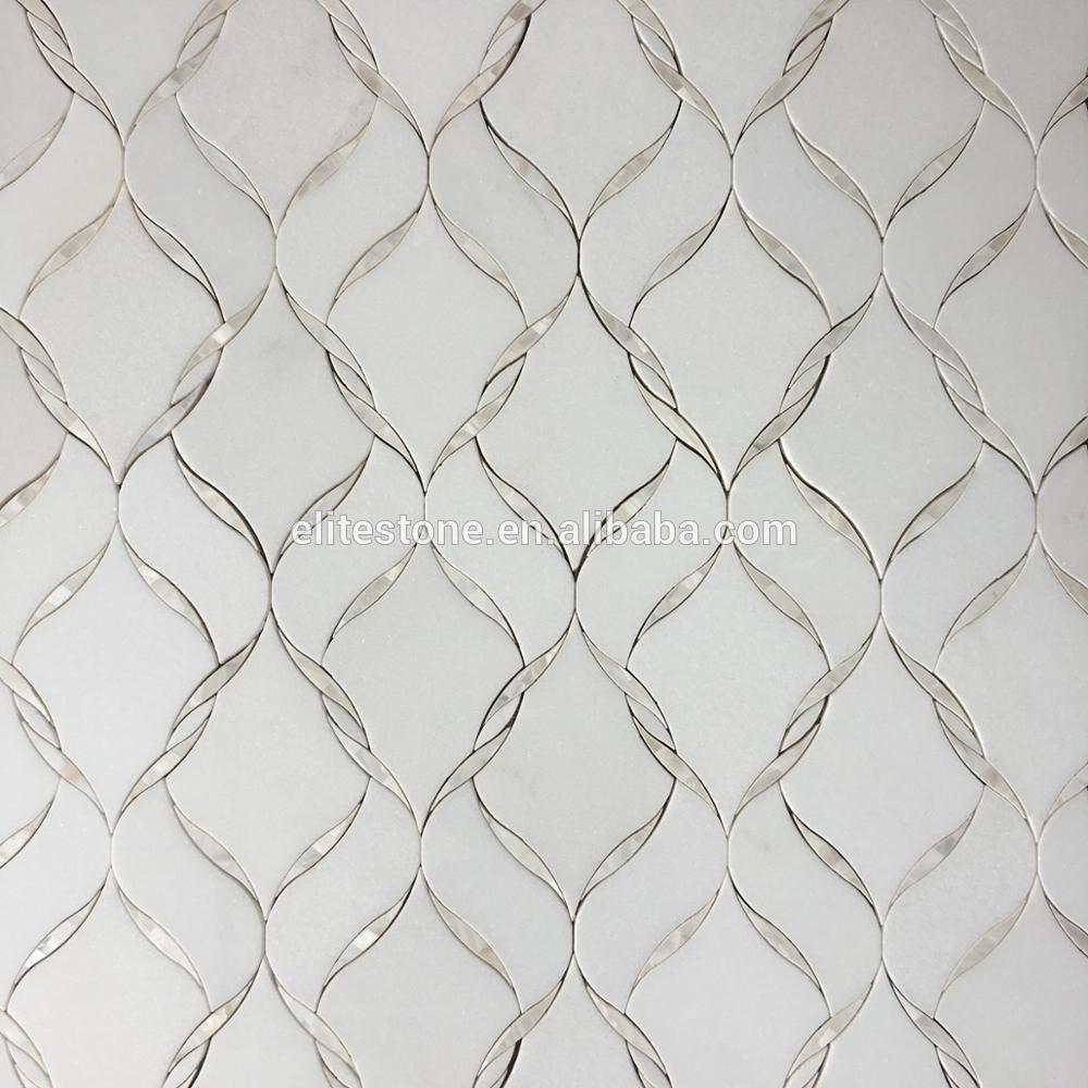 Mother of Pearl Grey White Shell Tile Mosaic Backsplash Tiles OYSTER MAJORICA